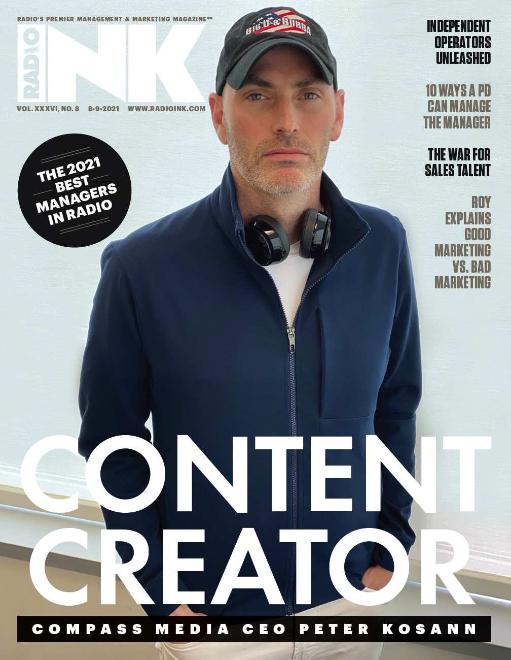 Cover of August 9, 2021 issue of Radio Ink